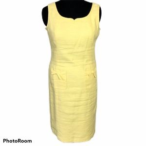 Talbots Yellow Cotton Linen blend sundress size 12